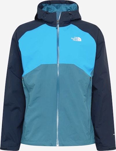 THE NORTH FACE Outdoorjas 'Stratos' in de kleur Navy / Duifblauw / Lichtblauw / Wit, Productweergave