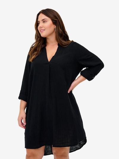 Zizzi Tunika 'Ehera' in schwarz, Modelansicht
