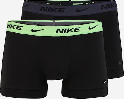 NIKE Sporta apakšbikses, krāsa - tumši zils / neonzaļš / melns, Preces skats