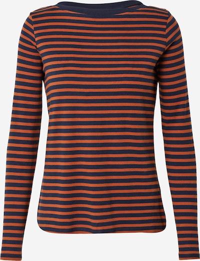 TOM TAILOR DENIM Shirt in de kleur Nachtblauw / Cognac, Productweergave