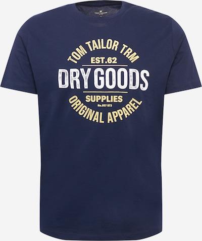 TOM TAILOR T-Shirt en bleu marine / jaune pastel / blanc, Vue avec produit