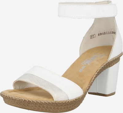 RIEKER Sandale in grau / weiß, Produktansicht