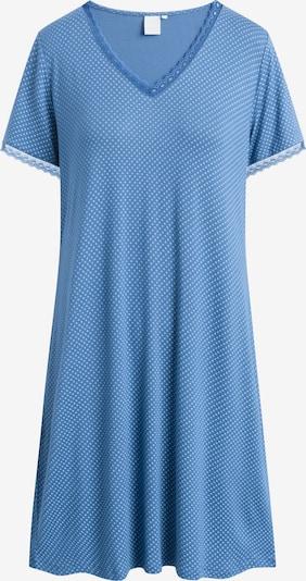 CCDK Copenhagen Nachthemd 'Jacqueline' in blau / weiß, Produktansicht
