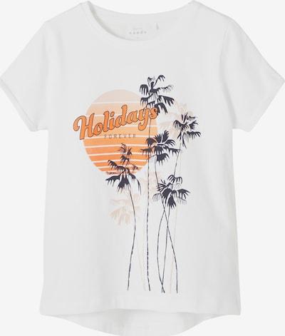 NAME IT Shirt 'Vix' in nachtblau / orange / weiß, Produktansicht