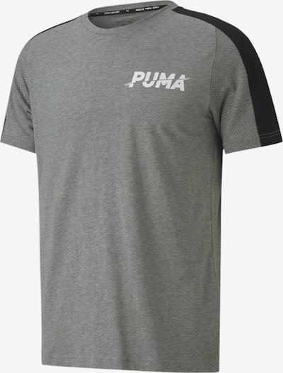 PUMA Functioneel shirt in de kleur Grijs / Zwart / Wit, Productweergave