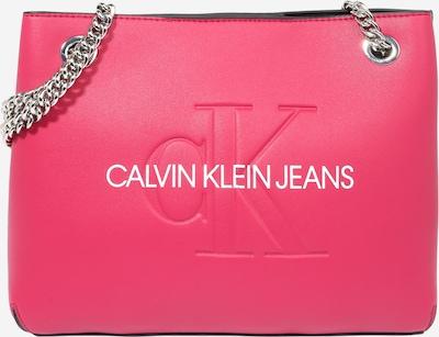 Calvin Klein Jeans Schultertasche in kirschrot / weiß, Produktansicht
