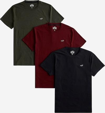 HOLLISTER Shirt in khaki / dunkelrot / schwarz: Frontalansicht