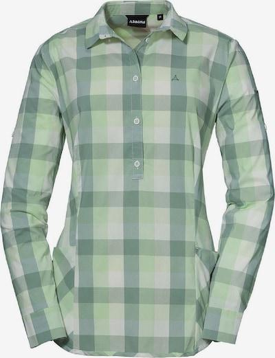 Schöffel Funktionsbluse 'Hirschberg' in grau / hellgrün / dunkelgrün, Produktansicht