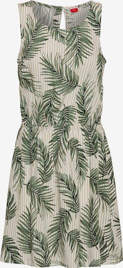 s.Oliver RED LABEL Kleid in dunkelgrün / weiß, Produktansicht
