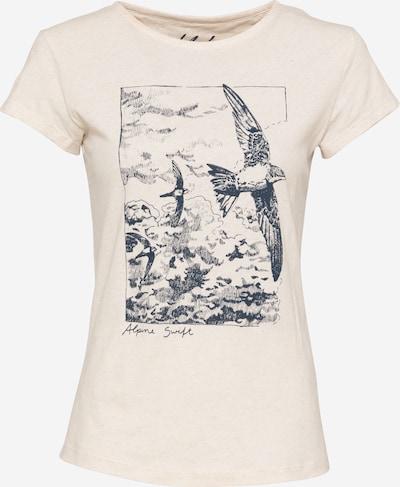 fekete / gyapjúfehér bleed clothing Póló 'Alpine Swift', Termék nézet