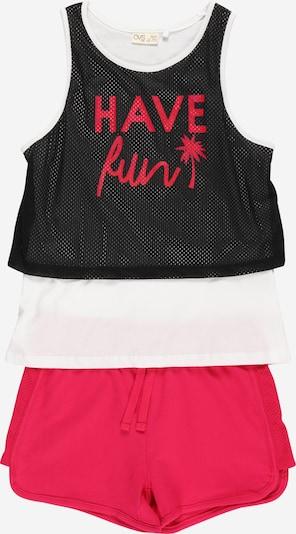 OVS Jogginganzug in pink / schwarz / weiß, Produktansicht