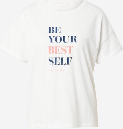 TOM TAILOR Shirt in de kleur Blauw / Lichtroze / Offwhite, Productweergave