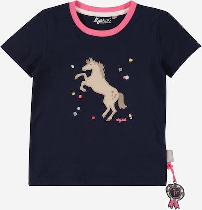 SIGIKID T-Shirt 'Mini' en bleu marine / bleu clair / noisette / jaune / rose, Vue avec produit