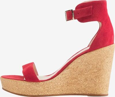 DreiMaster Vintage Sandalette in braun / rot, Produktansicht