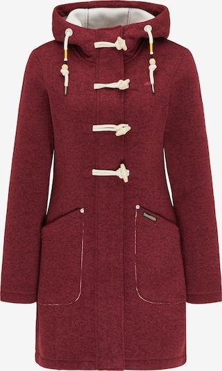 Schmuddelwedda Fleece jas in de kleur Wijnrood: Vooraanzicht