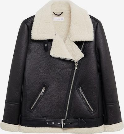 MANGO Mantel 'Adri-I' in schwarz / wollweiß, Produktansicht