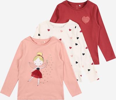 NAME IT Shirt 'ODASSI' in gelb / rosa / dunkelrot / weiß, Produktansicht