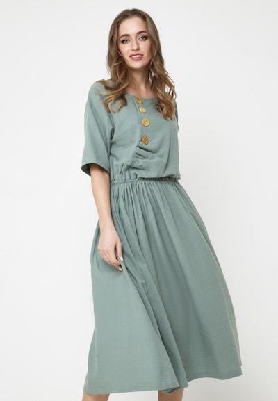 Madam-T Sommerkleid in grün, Modelansicht