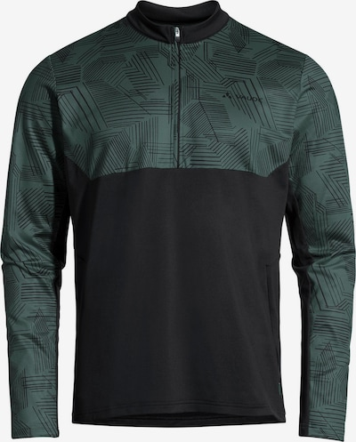 VAUDE Shirt 'Virt QZip LS' in dunkelgrün, Produktansicht