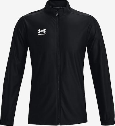 UNDER ARMOUR Sportjas 'Challenge ' in de kleur Zwart / Wit, Productweergave