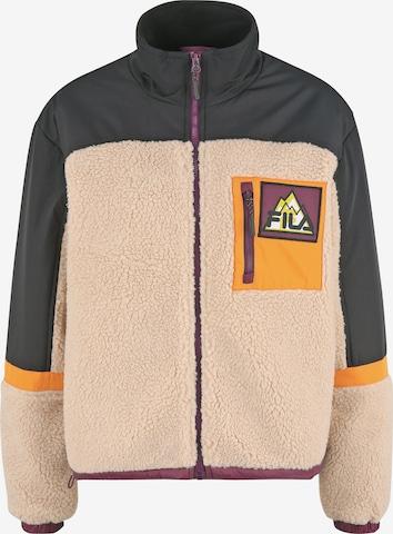 FILA Fleece Jacket 'YACHI' in Orange