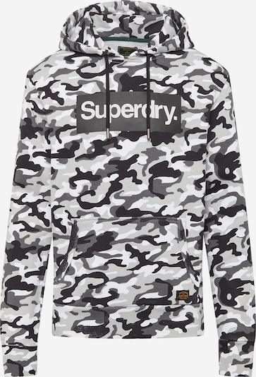 Superdry Sportsweatshirt 'CAMO' i grå / lysegrå / sort / hvid, Produktvisning