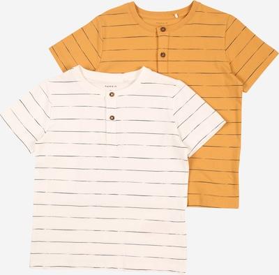 NAME IT T-Shirt 'HERLUF' en jaune foncé / blanc, Vue avec produit