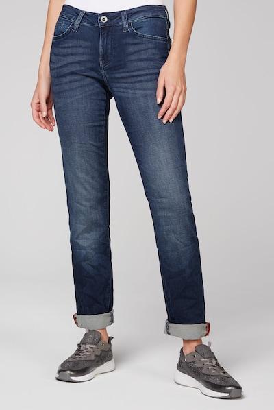 Soccx Jeans RO:MY aus Sweatmaterial in Denim-Optik in blau, Modelansicht
