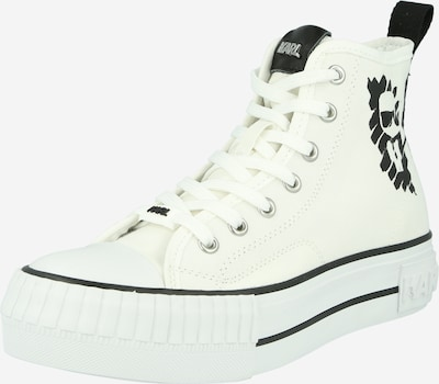 Karl Lagerfeld Augstie brīvā laika apavi 'KAMPUS' melns / dabīgi balts, Preces skats