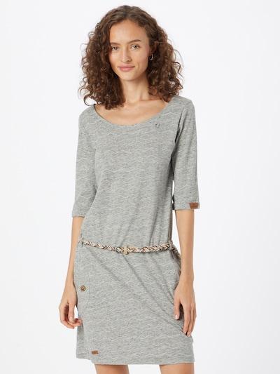 Ragwear Kleid 'TANYA' in grau / weiß, Modelansicht