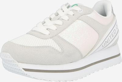 Benetton Footwear Zapatillas deportivas bajas 'JOY MIX' en gris claro / blanco, Vista del producto