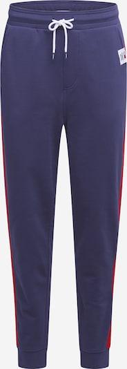 Tommy Jeans Sportsbukser i navy / brandrød, Produktvisning