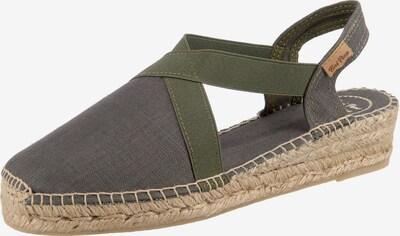 Toni Pons Sandale in beige / khaki / dunkelgrün, Produktansicht