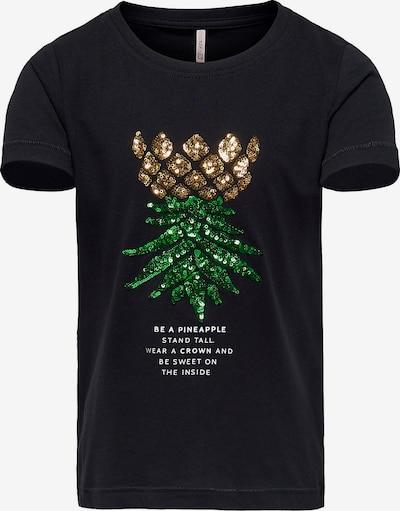 KIDS ONLY T-Shirt in grün / schwarz / weiß, Produktansicht