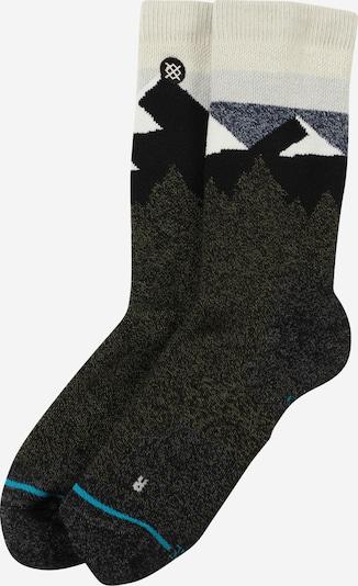 Stance Socken 'Divide' in dunkelblau / oliv / weiß, Produktansicht