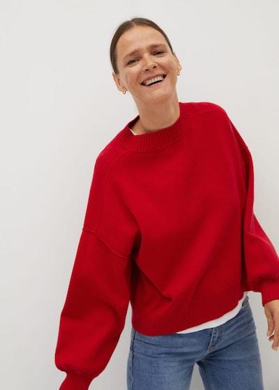 MANGO Pullover in rot, Modelansicht