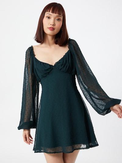 Missguided Koktel haljina 'MILKMAID' u tamno zelena: Prednji pogled
