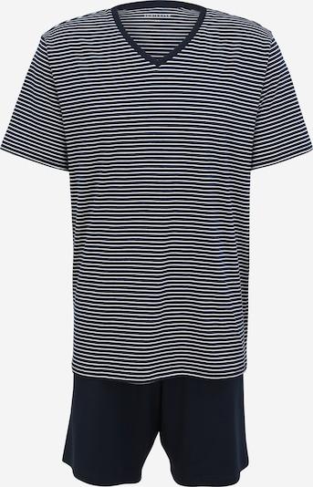 SCHIESSER Pyjama court en bleu marine / blanc, Vue avec produit