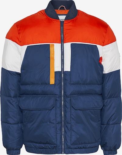Tommy Jeans Jacke in dunkelblau / hellrot / weiß, Produktansicht