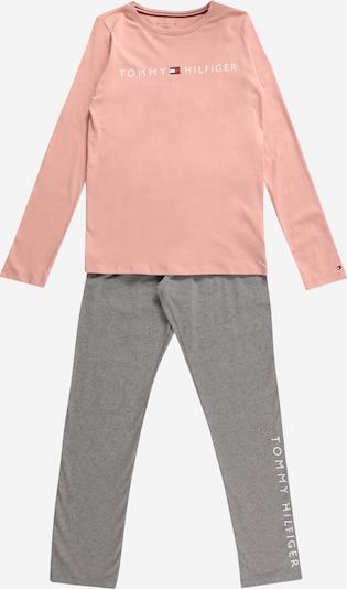 Pijamale 'LS PANT JERSEY SET' Tommy Hilfiger Underwear pe gri / roz, Vizualizare produs