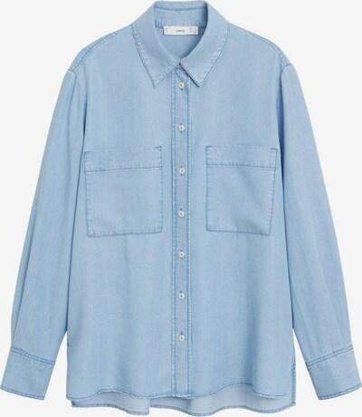 MANGO Bluse in blue denim, Produktansicht