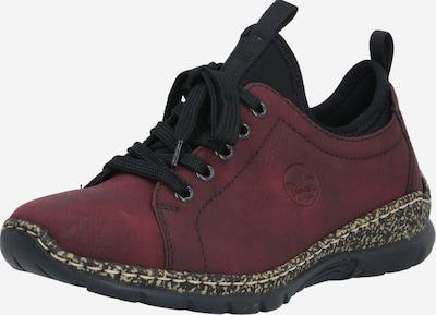 RIEKER Športni čevlji z vezalkami | bordo / črna barva, Prikaz izdelka