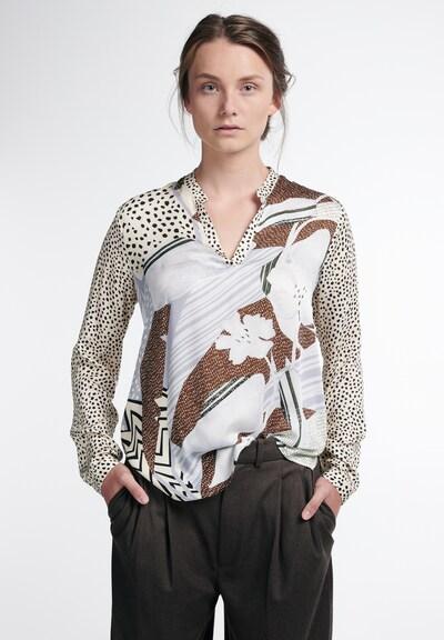 ETERNA Tunika in beige / braun / schwarz / weiß, Modelansicht