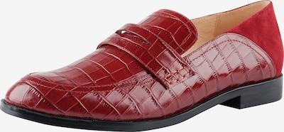 Ekonika Trendige Loafer aus echtem Leder in kirschrot: Frontalansicht