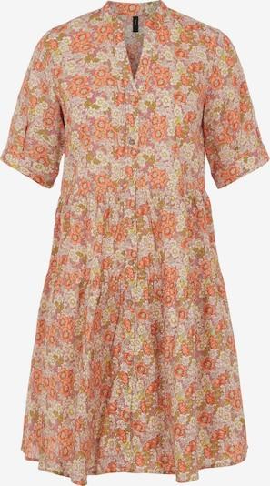 Y.A.S Robe-chemise 'Dowa' en vert clair / orange / rose / rose ancienne / blanc, Vue avec produit
