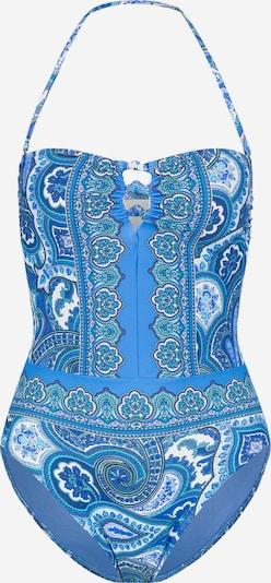 Lauren Ralph Lauren Badpak ' Aegan ' in de kleur Blauw / Wit, Productweergave