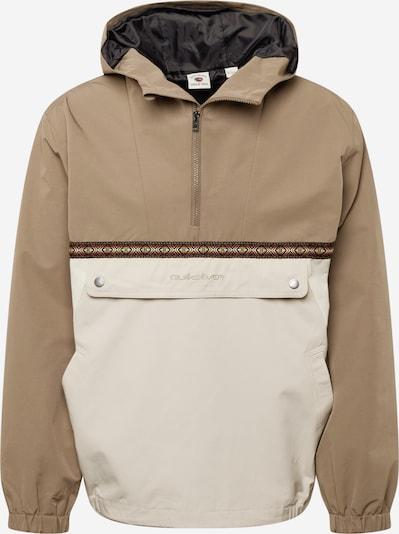 QUIKSILVER Jacke in beige / hellbeige / gelb / karminrot / weiß, Produktansicht