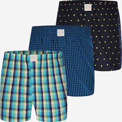 MG-1 Web-Boxershorts ' 3-Pack Männers Beste' in blau / grün / schwarz, Produktansicht