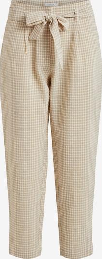 VILA Pantalon à pince 'Laidas' en beige clair / blanc, Vue avec produit