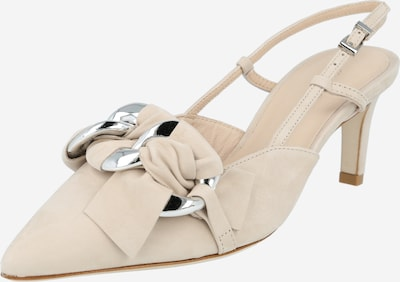 Kennel & Schmenger Slingback pumps 'Enny' in Beige / Silver, Item view